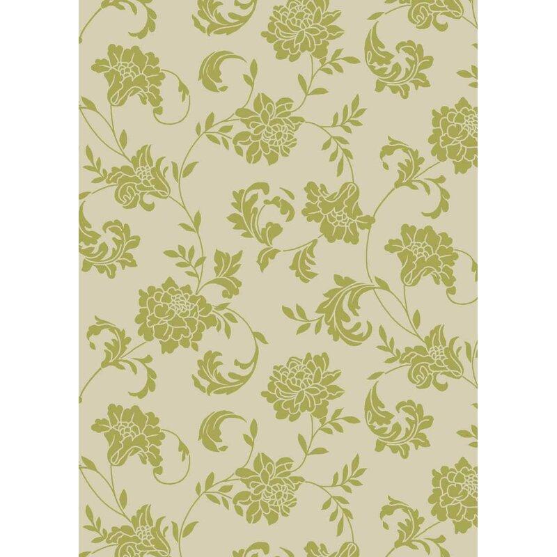 Alcott Hill Sigel Light Green/Ivory Indoor/Outdoor Area Rug, Size: Rectangle 79 x 1010