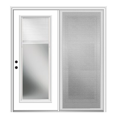 Verona Home Design Fiberglass Prehung Patio Door With Screen Wayfair