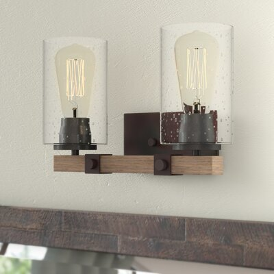 Rustic farmhouse vanity lights you 39 ll love in 2019 wayfair - Farmhouse bathroom vanity lights ...