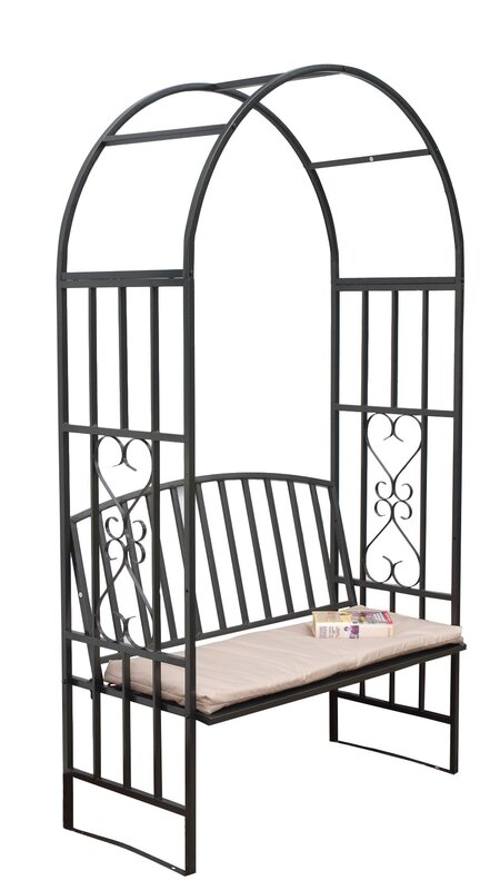 gablemere 2 sitzer rosenbogen mit bank aus stahl bewertungen. Black Bedroom Furniture Sets. Home Design Ideas