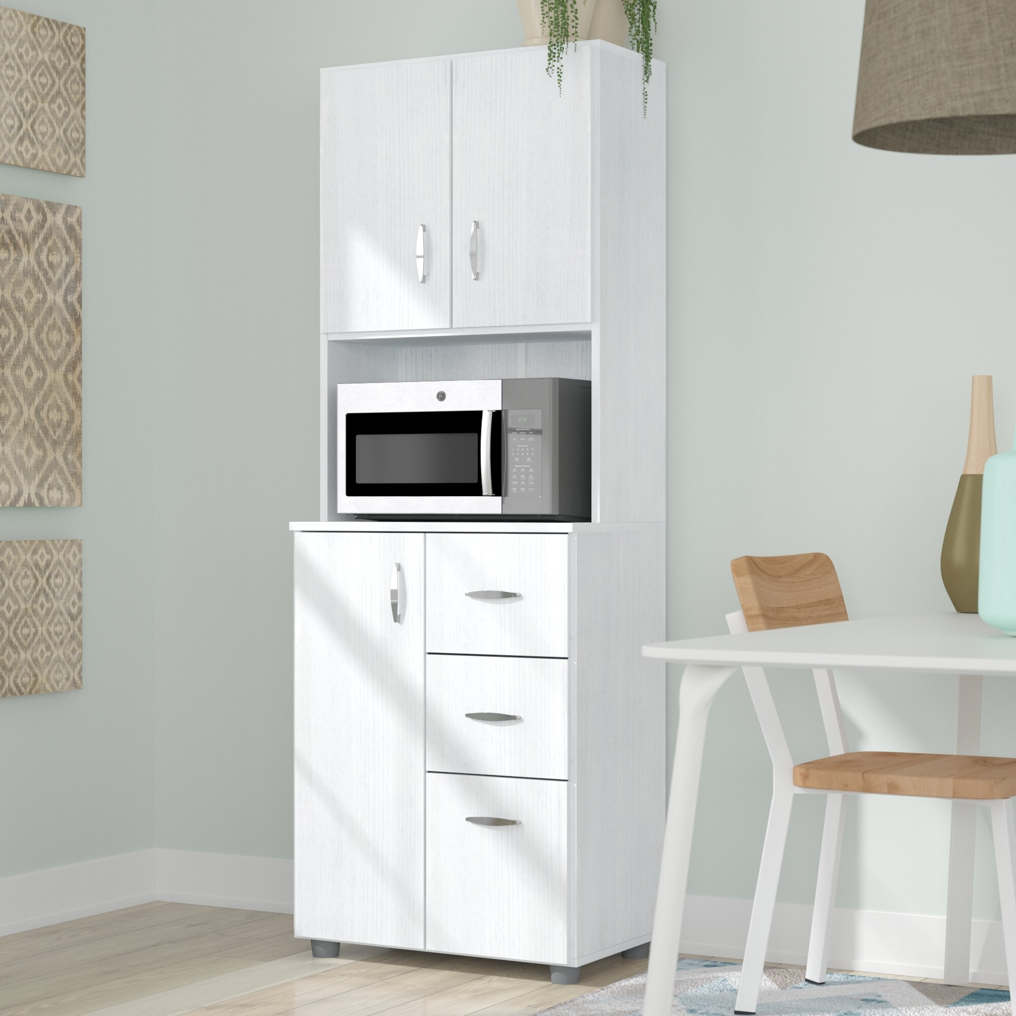 Zipcode Design Hyland 66 Kitchen Pantry Reviews Wayfair