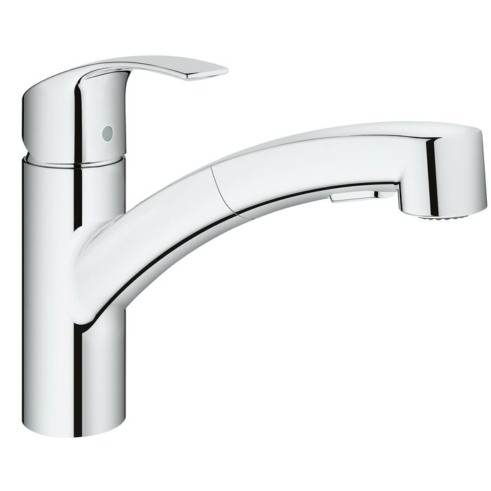 Grohe Eurosmart Single Handle Pull Out Standard Kitchen Faucet With