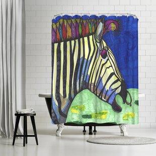 Solveig Studio Zebra Zelda Shower Curtain