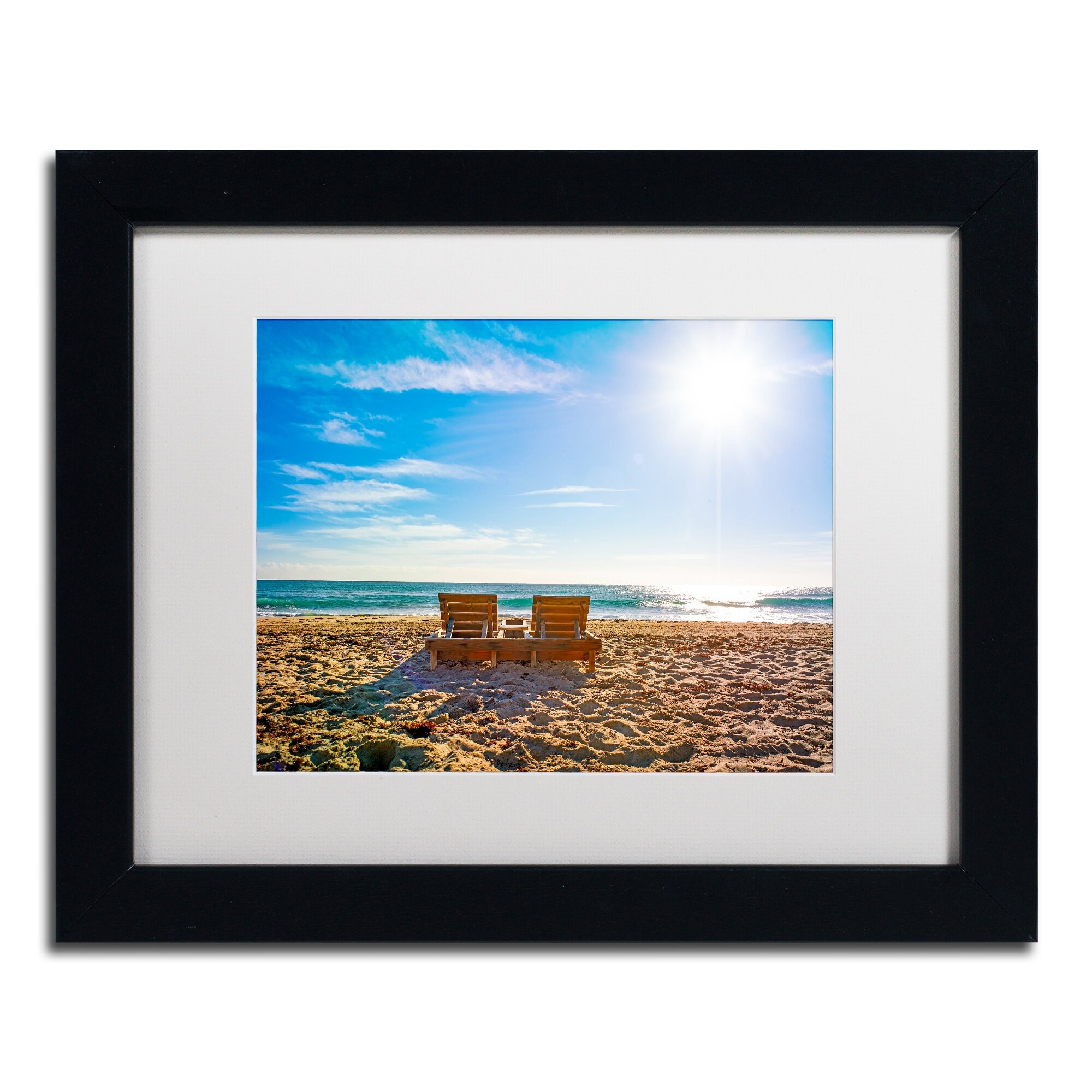 Trademark Art Florida Beach Chair By Preston Framed Photographic Print |  Wayfair