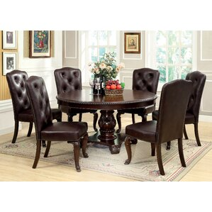 7 Piece Dining Set Round Kitchen  Room Sets You ll Love Wayfair