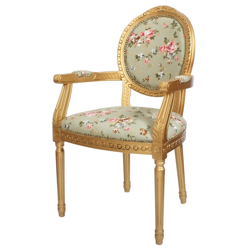 Louis Floral Upholstered Dining Chair