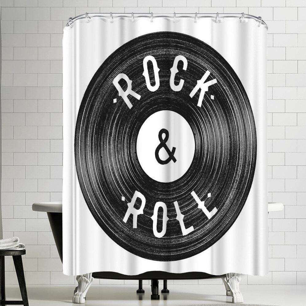 East Urban Home Florent Bodart Rock Roll Shower Curtain