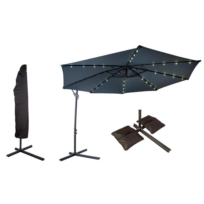 Trademark Innovations Offset Patio 10 Cantilever Umbrella Reviews Wayfair
