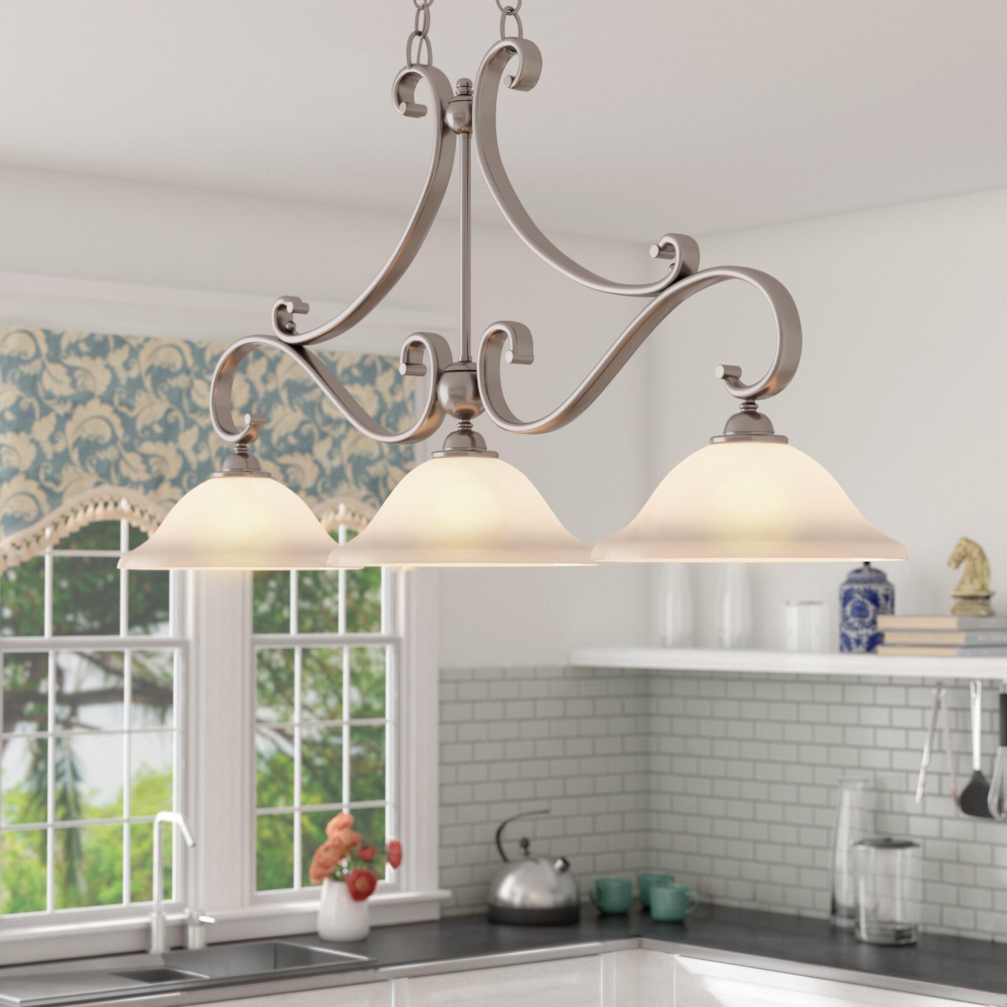 Van Horne 3 Light Kitchen Island Linear Pendant