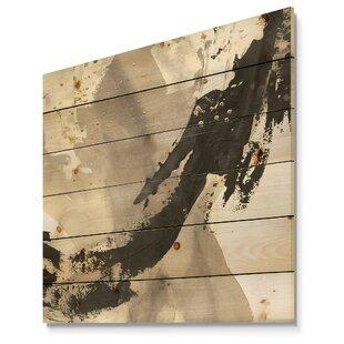 Transitional U0027Glam Painted Arcs IIIu0027 Print On Wood