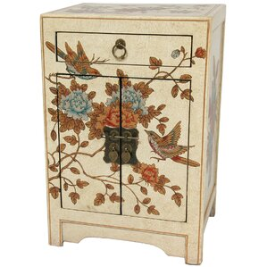 Peaceful Birds End Table by Oriental Furniture