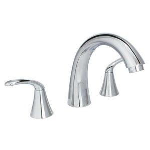 Double Handle Deck Mount Roman Tub Faucet