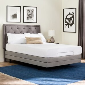 Deluxe Upholstered Adjustable Bed by Brookside