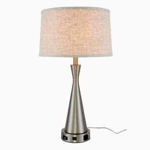 Modern contemporary table lamp with outlet allmodern cayeman 26 table lamp mozeypictures Choice Image