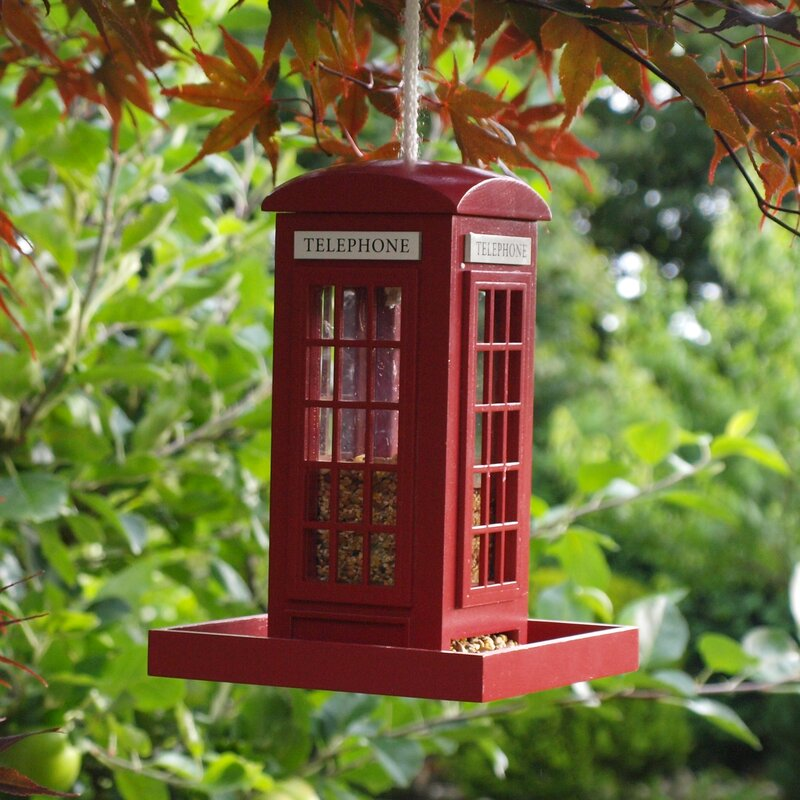 Garden bazaar telephone box bird feeder reviews for Wayfair garden box
