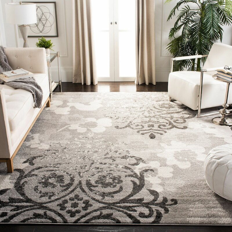 Frizzell Silver Ivory Area Rug Amp Reviews Allmodern