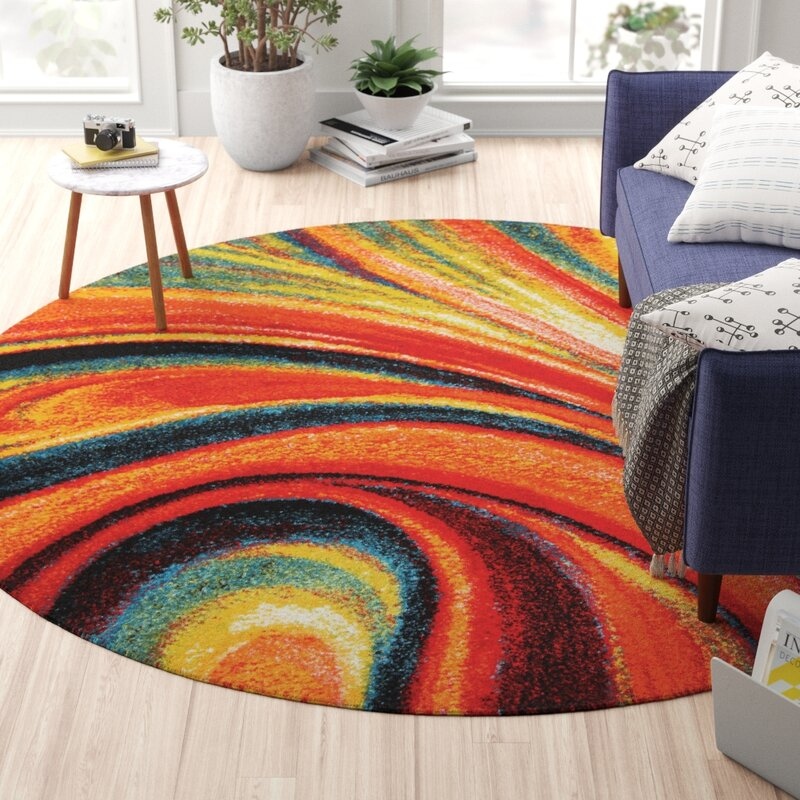 Zipcode Design Peyton Modern Abstract Red Area Rug
