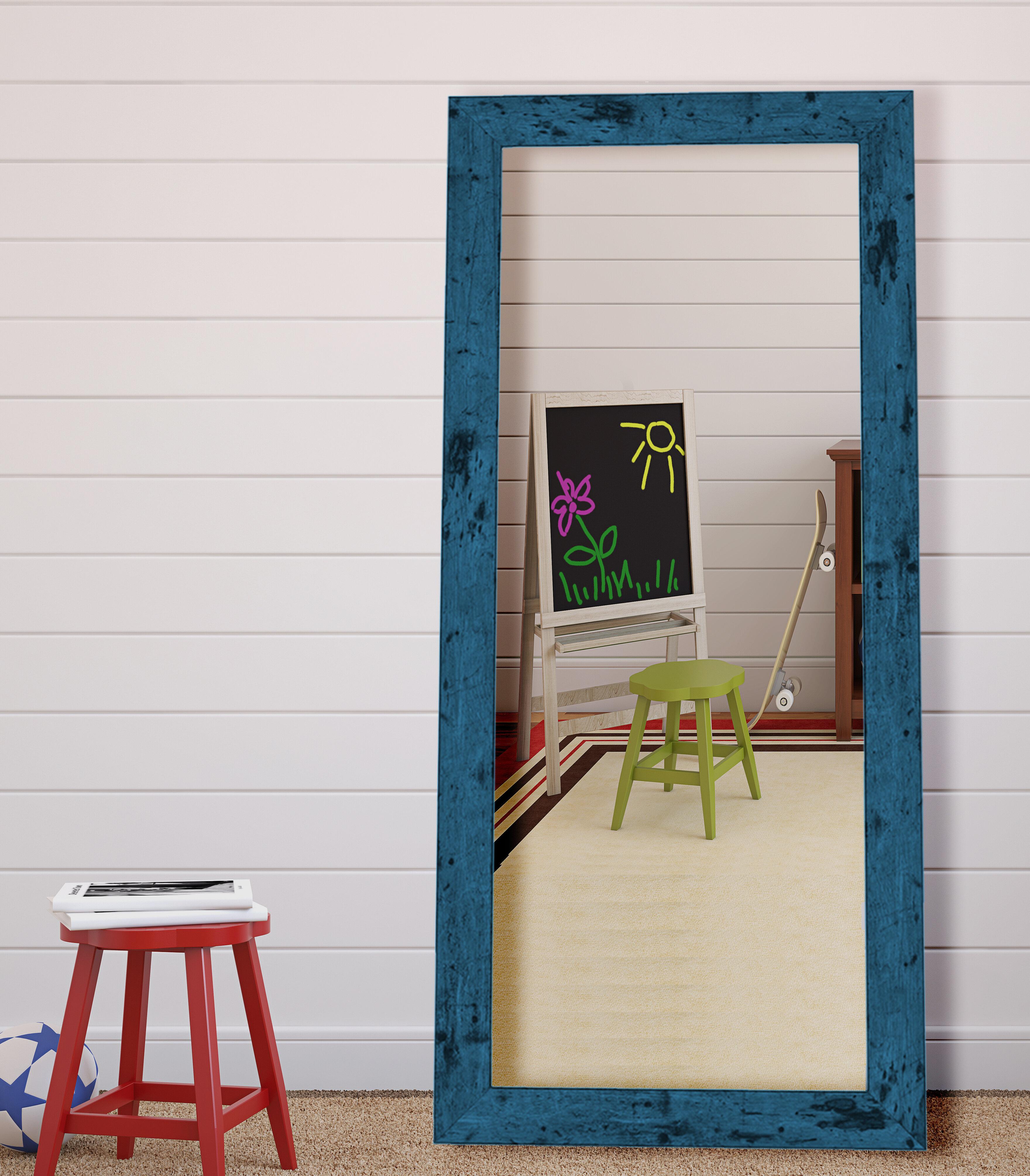 Hitch Erfield Company Dorian Vintage Blue Barnwood Wall Mirror Reviews Wayfair