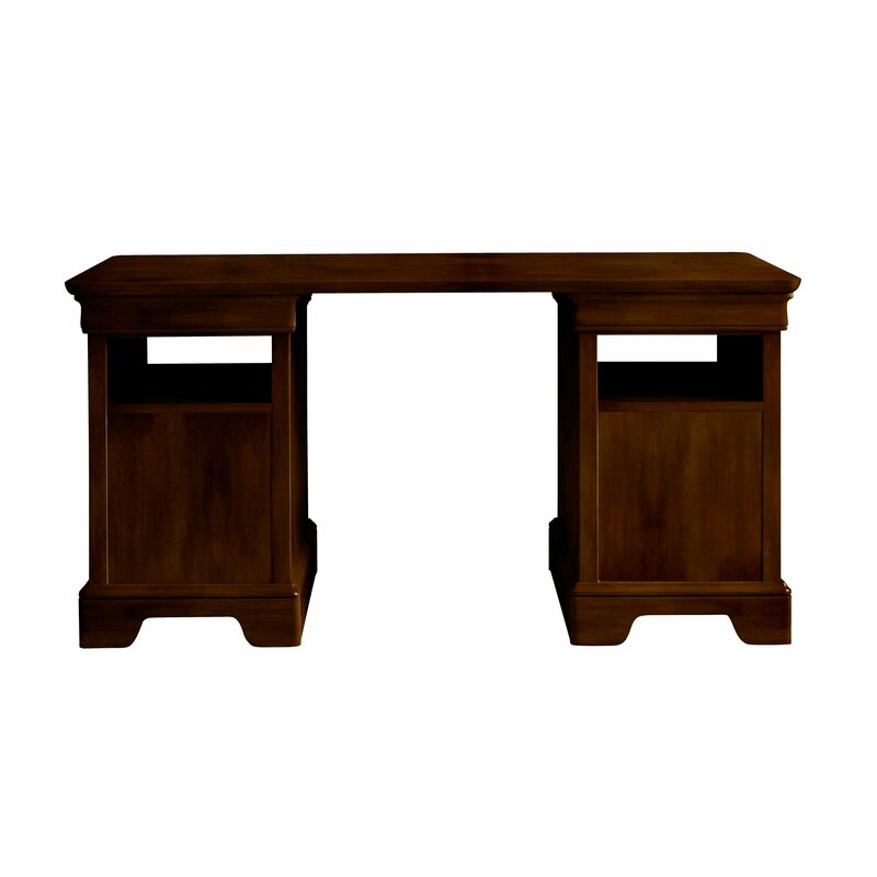 Teaberry Lane Solid Wood Executive Desk