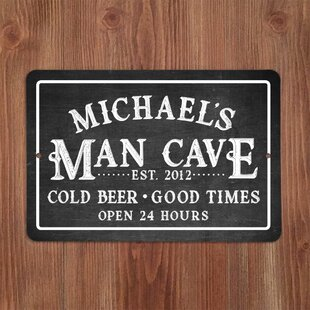 Personalized Chalkboard Look Man Cave Metal Sign Wall Décor