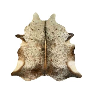 Durant Cowhide Brown/White Area Rug ByMillwood Pines