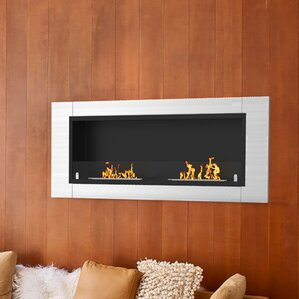 Sheehan Ventless Built in Recessed Wall Mount Bio Ethanol Fireplace by Orren Ellis