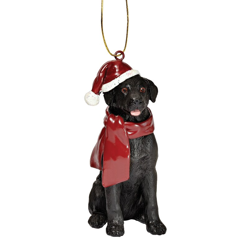 Design Toscano Lab Holiday Dog Ornament Sculpture ...