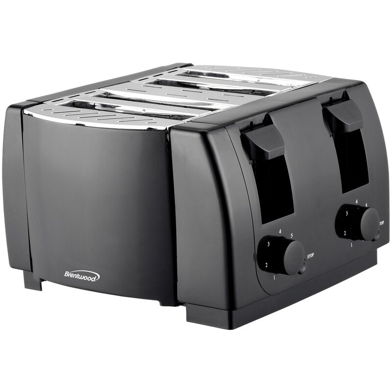 Brentwood 4 Slice Cool Touch Toaster  Finish: Black