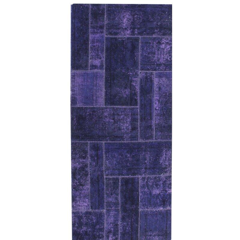 caracella handgefertigter teppich vintage aus wolle in lila. Black Bedroom Furniture Sets. Home Design Ideas