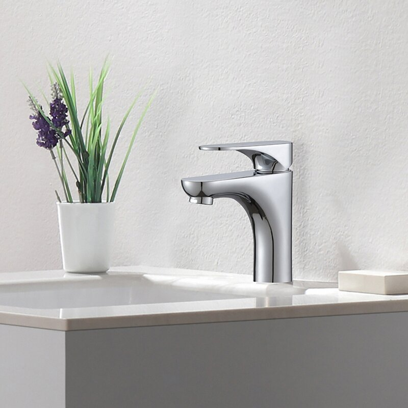 aquila single hole single handle bathroom faucet