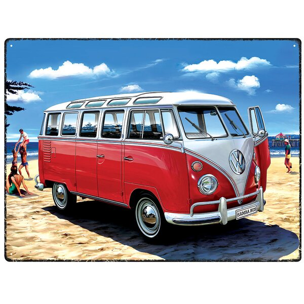 red hot lemon schild vw samba bus beach grafikdruck. Black Bedroom Furniture Sets. Home Design Ideas