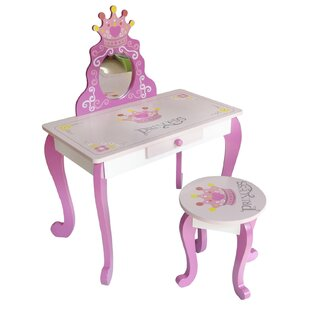 Princess Dressing Table Set with Mirror by Kiddi Style