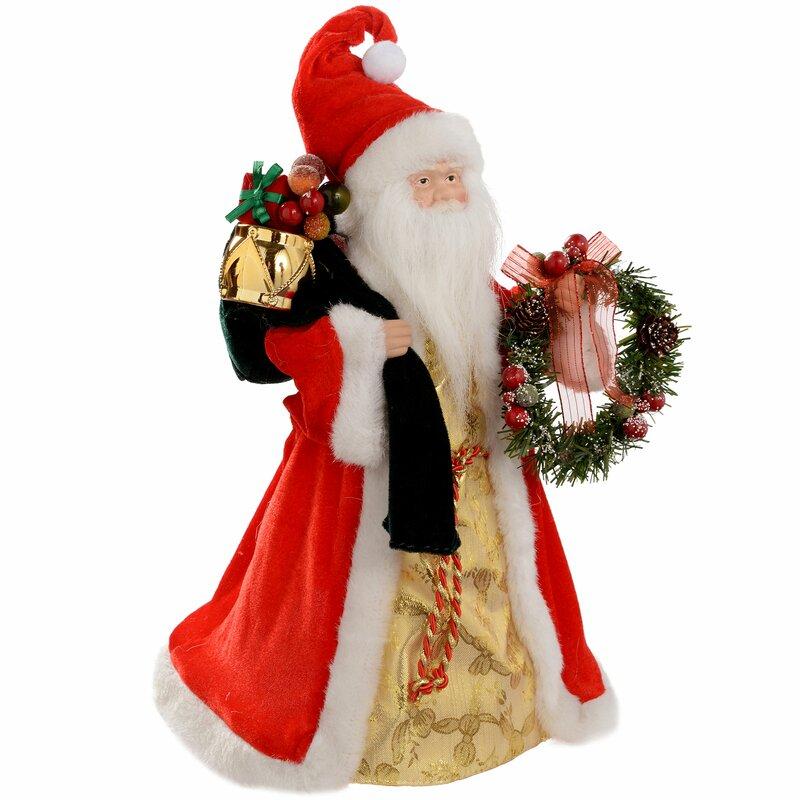 00fe97340b The Seasonal Aisle Santa Christmas Tree Topper | Wayfair.co.uk
