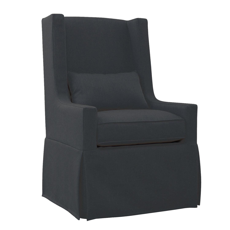 Gracie Oaks Hoang Swivel Lounge Charcoal Gray Armchair | Wayfair