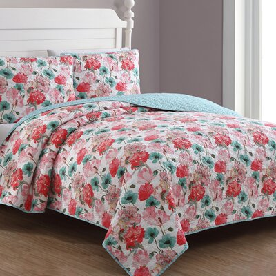 Estate Stacia Reversible Quilt Set American Home Fashion Size: Twin