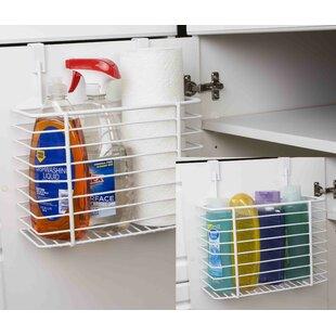 Wayfair Basics 12  Over-the-Cabinet Kitchen Storage Basket  sc 1 st  Wayfair & Over The Door Storage Baskets | Wayfair