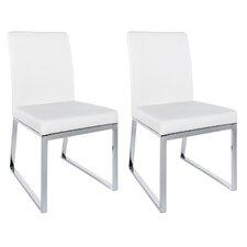 Modern White Chair modern white dining chairs   allmodern