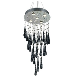 Wire chandelier wayfair hensler 5 light wire crystal chandelier aloadofball