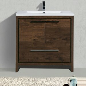 Almendarez Free Standing Modern 35.5 Rectangular Single Bathroom Vanity Set