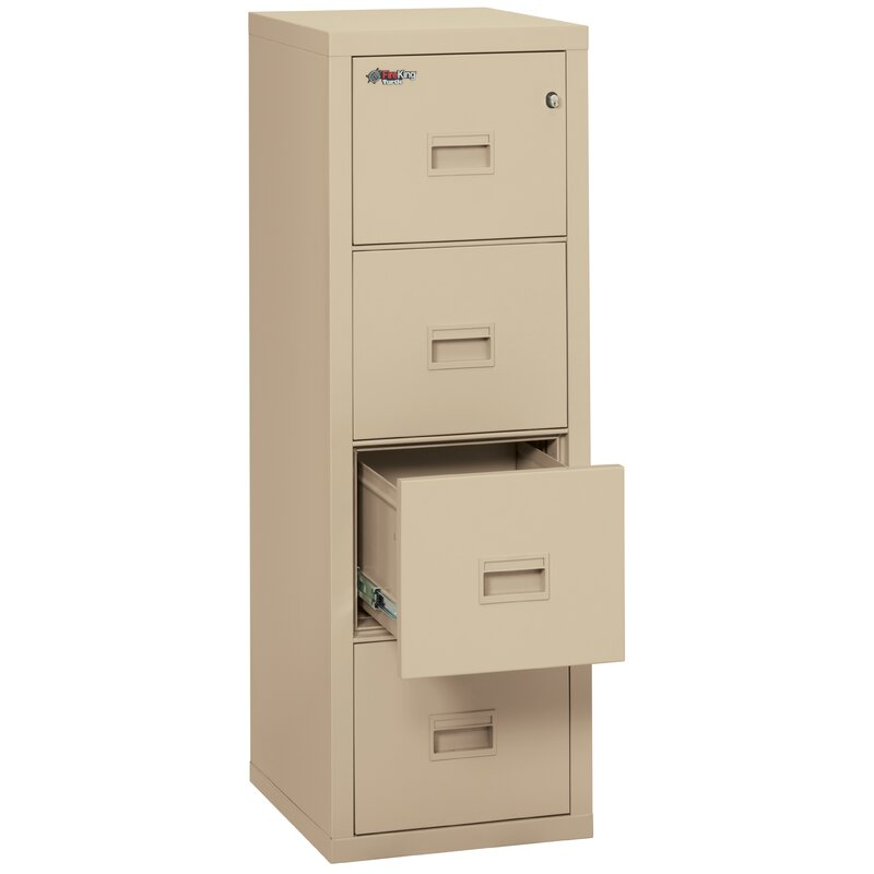 Turtle Fireproof 4 Drawer Vertical File Cabinet
