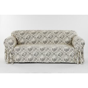 Toile Print Box Cushion Sofa Slipcover by Classic Slipcovers