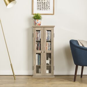Double Doors Wood Multimedia Cabinet by Red ..