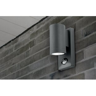 Pir security lights youll love wayfair shelby 1 light outdoor sconce with motion sensor aloadofball Choice Image