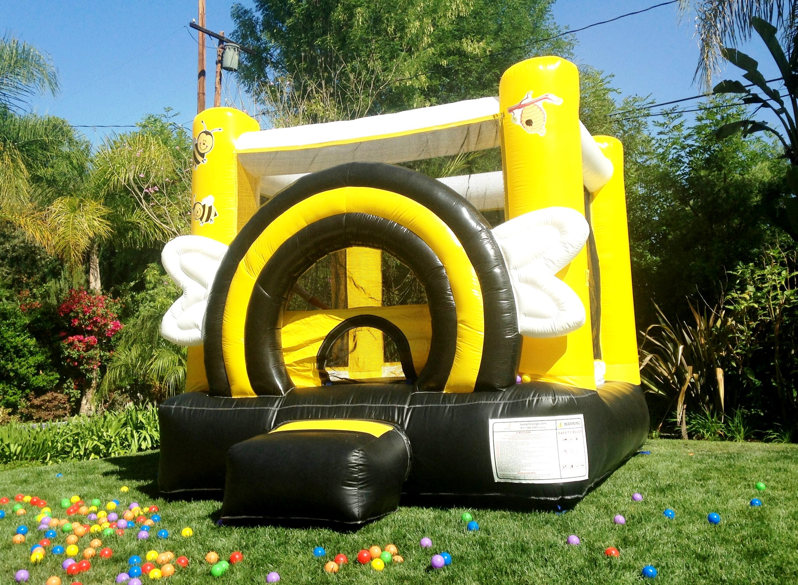 JumpOrange DuraLite Busy Bee Bounce House | Wayfair