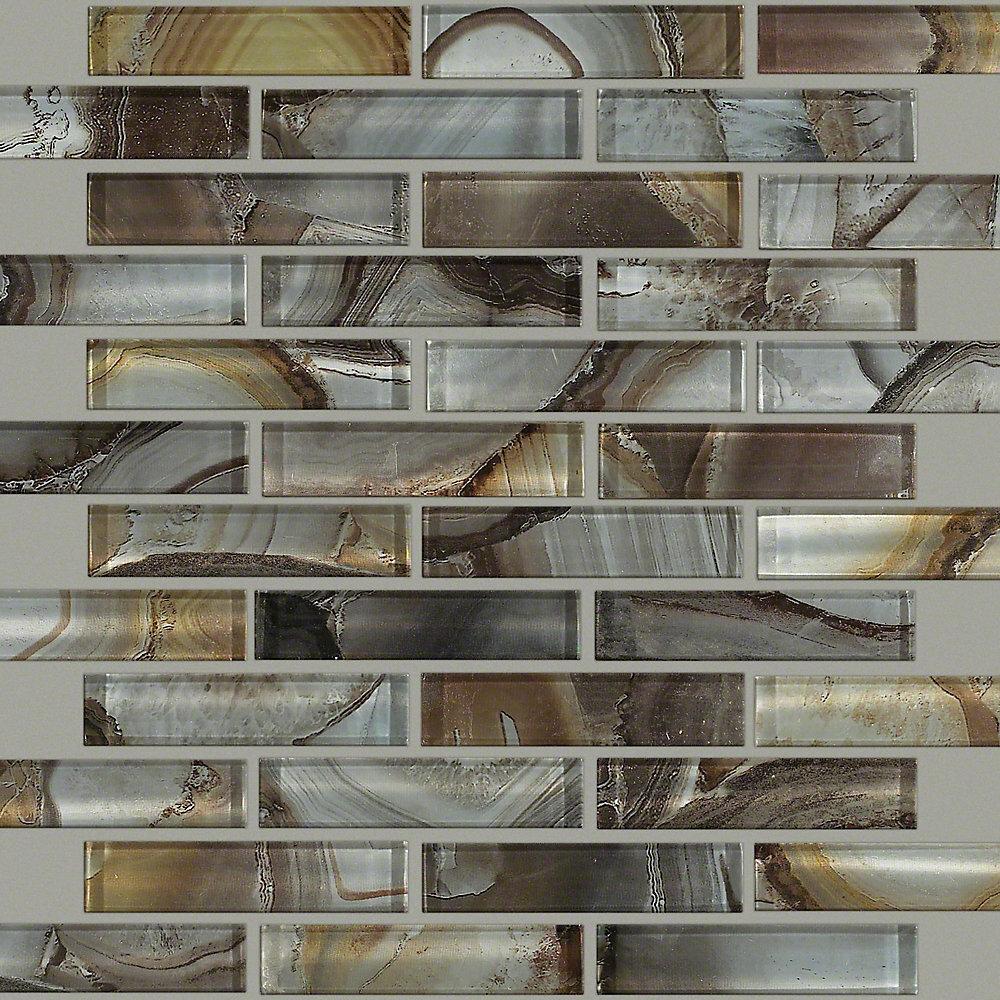 "Shaw Floors Neptune 1"" x 4"" Glass Mosaic Tile | Wayfair"