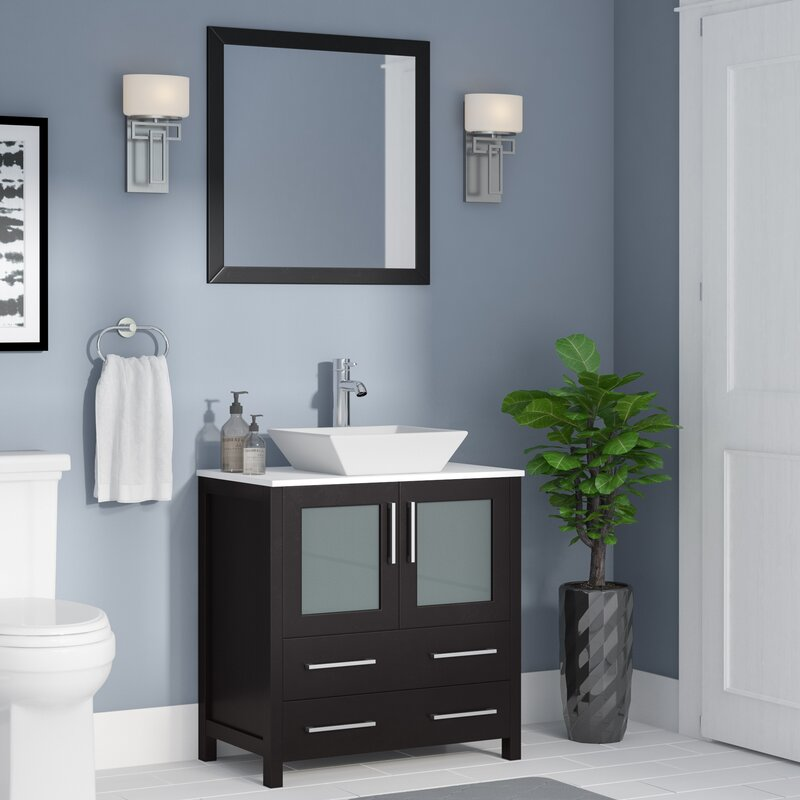"Karson 30"" Single Bathroom Vanity Set with Mirror"
