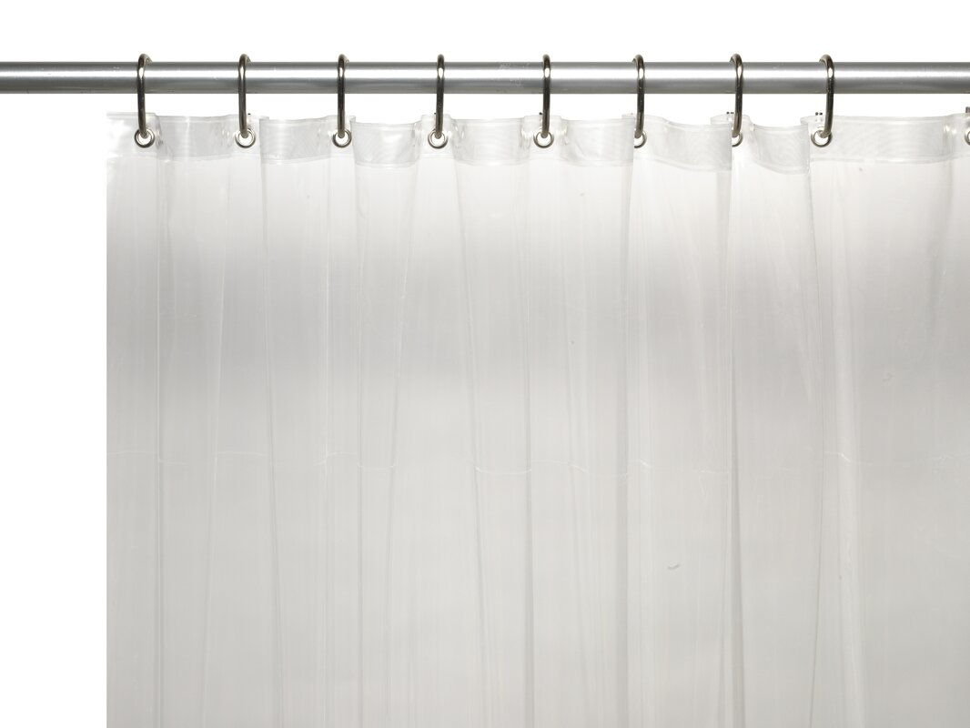 Clean Home PEVA Shower Curtain Liner