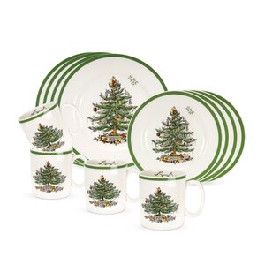 Christmas Tree 12 Piece Dinnerware Set, Service for 4
