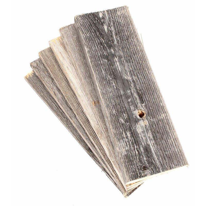 "BarnwoodUSA 12"" Reclaimed Solid Wood Wall Paneling in Gray"