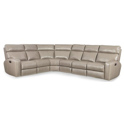 Mowry Leather Reclining Sectional Hooker Furniture